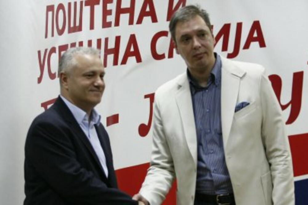 Mlađan Dinkić, Aleksandar Vučić, Foto: Blic.rs