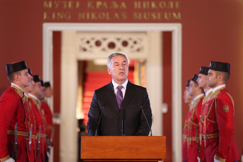 Đukanović na svečanosti na Cetinju, Foto: Kabinet predsjednika Crne Gore