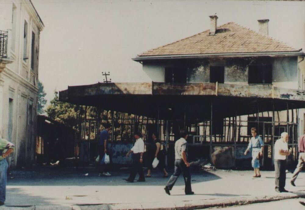 Zapaljena muslimanska radnja 1992.
