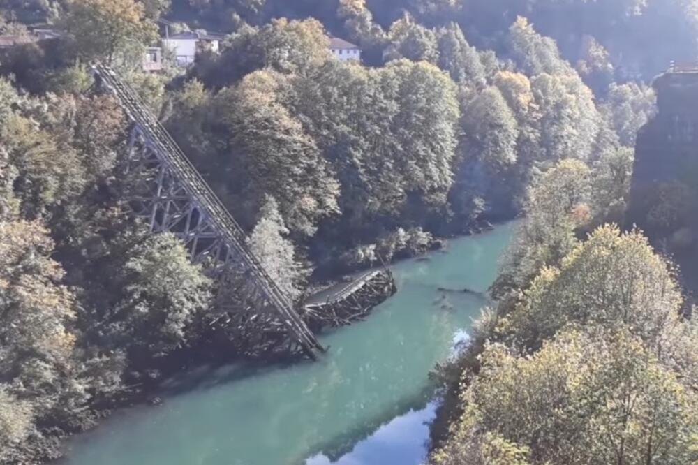 Srušeni most na Neretvi, Foto: Screenshot/Youtube