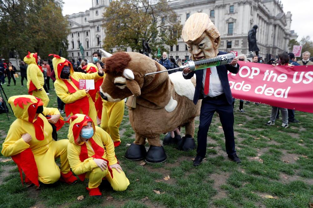 Sa jučerašnjih protesta protiv Trampa u Londonu