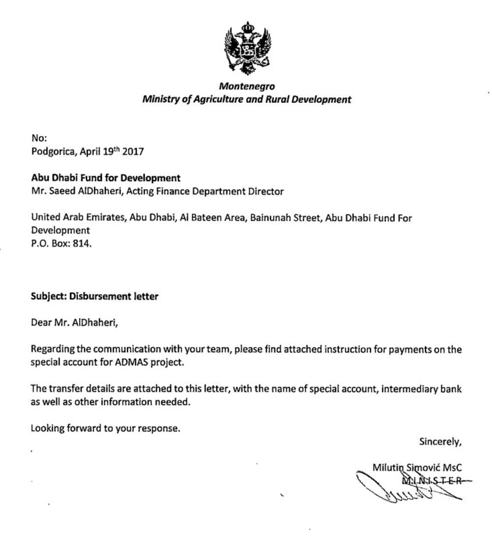 Dopis Abu Dabi