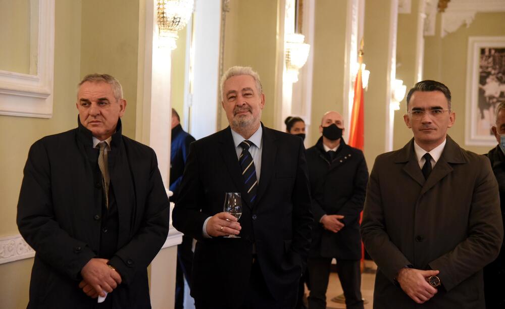 Krivokapić sa Leposavićem i ministrom Ratkom Mitrovićem