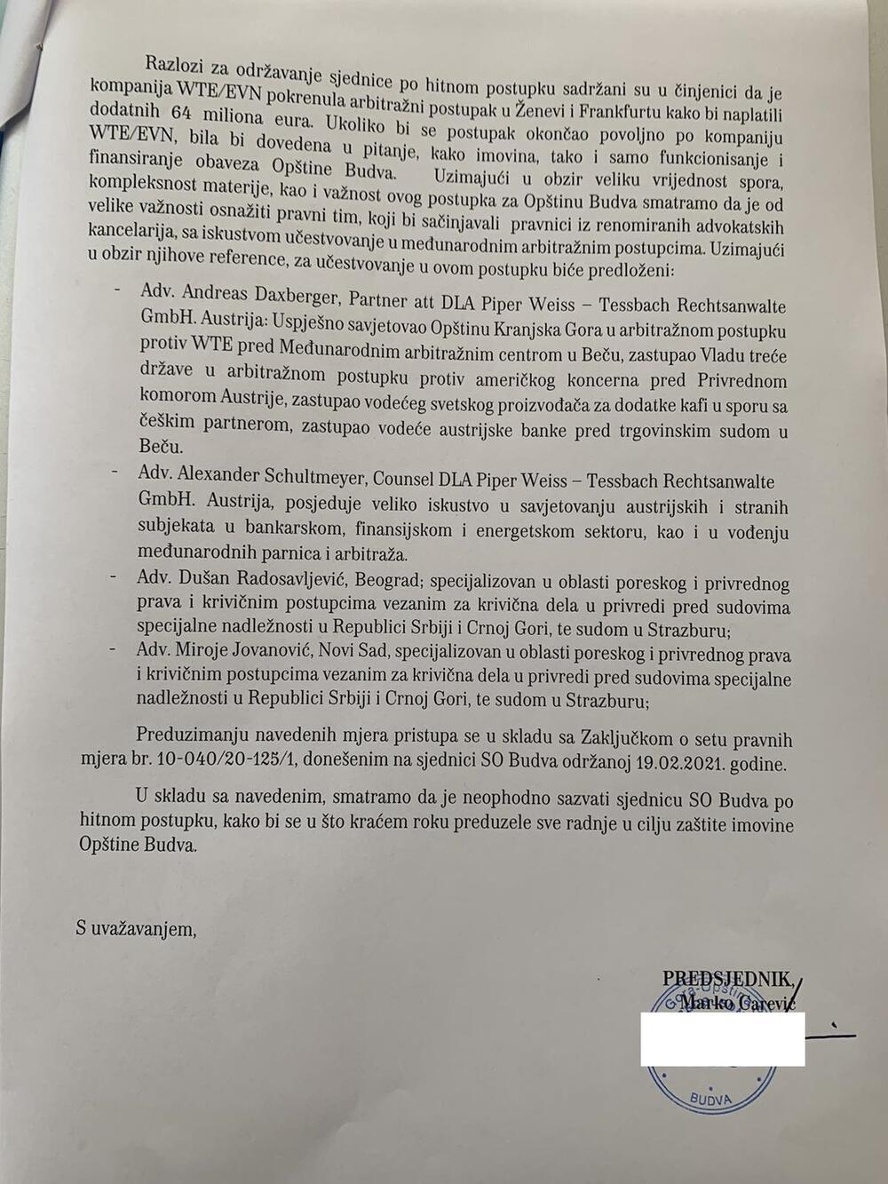 carević dopis