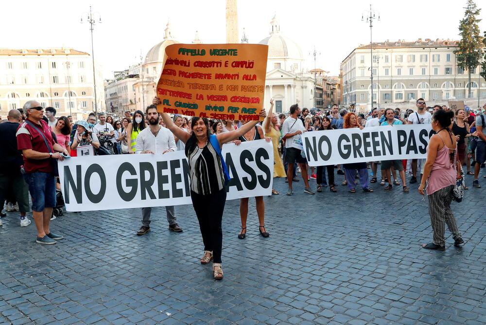 Sa protesta u Rimu