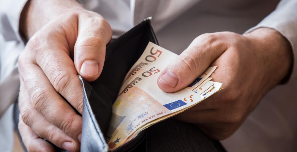 plata, novčanik, euro