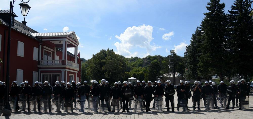Pozitivna ocjena za policiju, uprkos svemu: Detalj sa Cetinja od 4. septembra